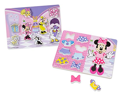 Melissa & Doug Disney Minnie Mouse Wooden Chunky Puzzles Set - Dress-Up Activity
