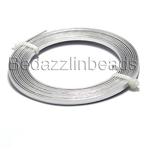 Pandahall 5Rolls 2M//2Yards//6Feet 5x1mm Gauge 18 Aluminum Flat Bezel Wire Artistic Wrapping Cuff Wire Soft Jewlery Beading Making Silver