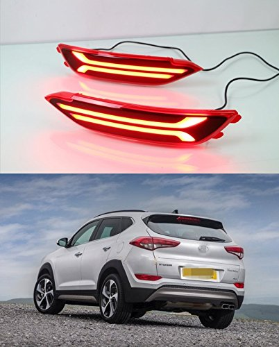 Amazon.com: LED Light Guide Brake Lights Night Driving Lights DRL for Hyundai Tucson 2015~2017: Automotive