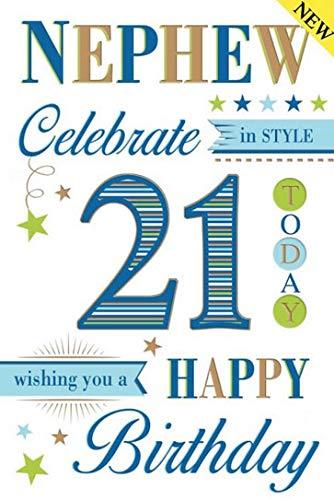 Special Nephew 21st Birthday Card Amazoncouk Kitchen Home