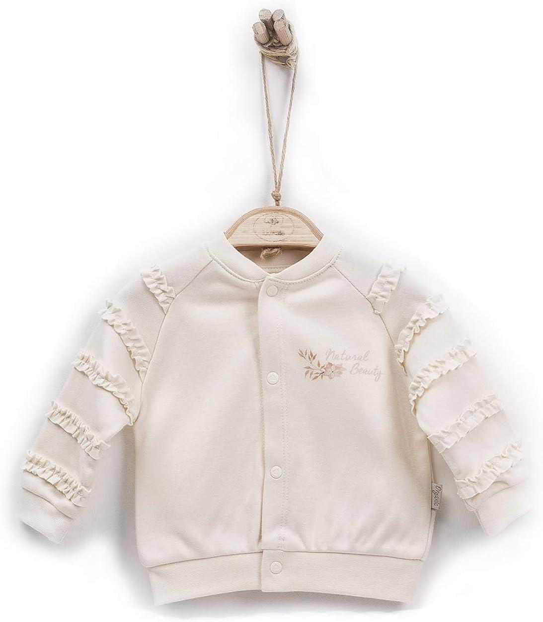 Kitikate Elegante Natural Beauty Baby M/ädchen Jacke aus 100/% Organic Cotton sehr modische Baby Jacke bis Gr/ö/ße 80