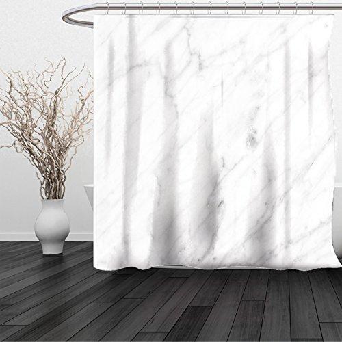 Carrara Star (HAIXIA Shower Curtain Marble Carrara Marble Tile Surface Organic Sculpture Style Granite Model Modern Design Dust Grey White)