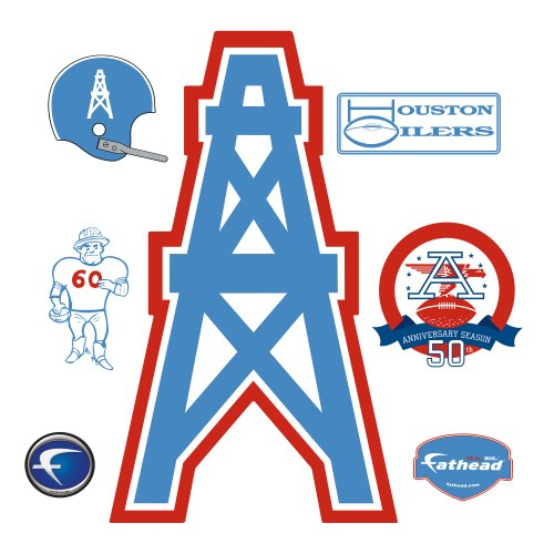NFL Houston Oilers vs. Tennessee Titans AFL Logo Wall Graphic
