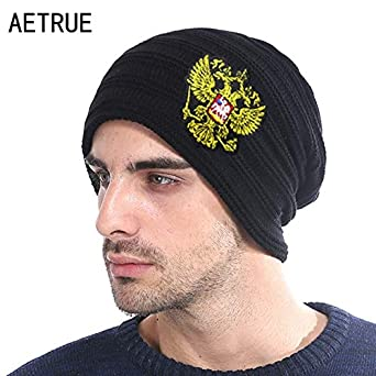 Elvy Winter Knitted Hat Russian Emblem Skullies Beanies Winter Hats for Men  Women Brand Caps Warm Baggy Gorras Bonnet Cap Hat 2018  Amazon.in  Clothing    ... 47306431522