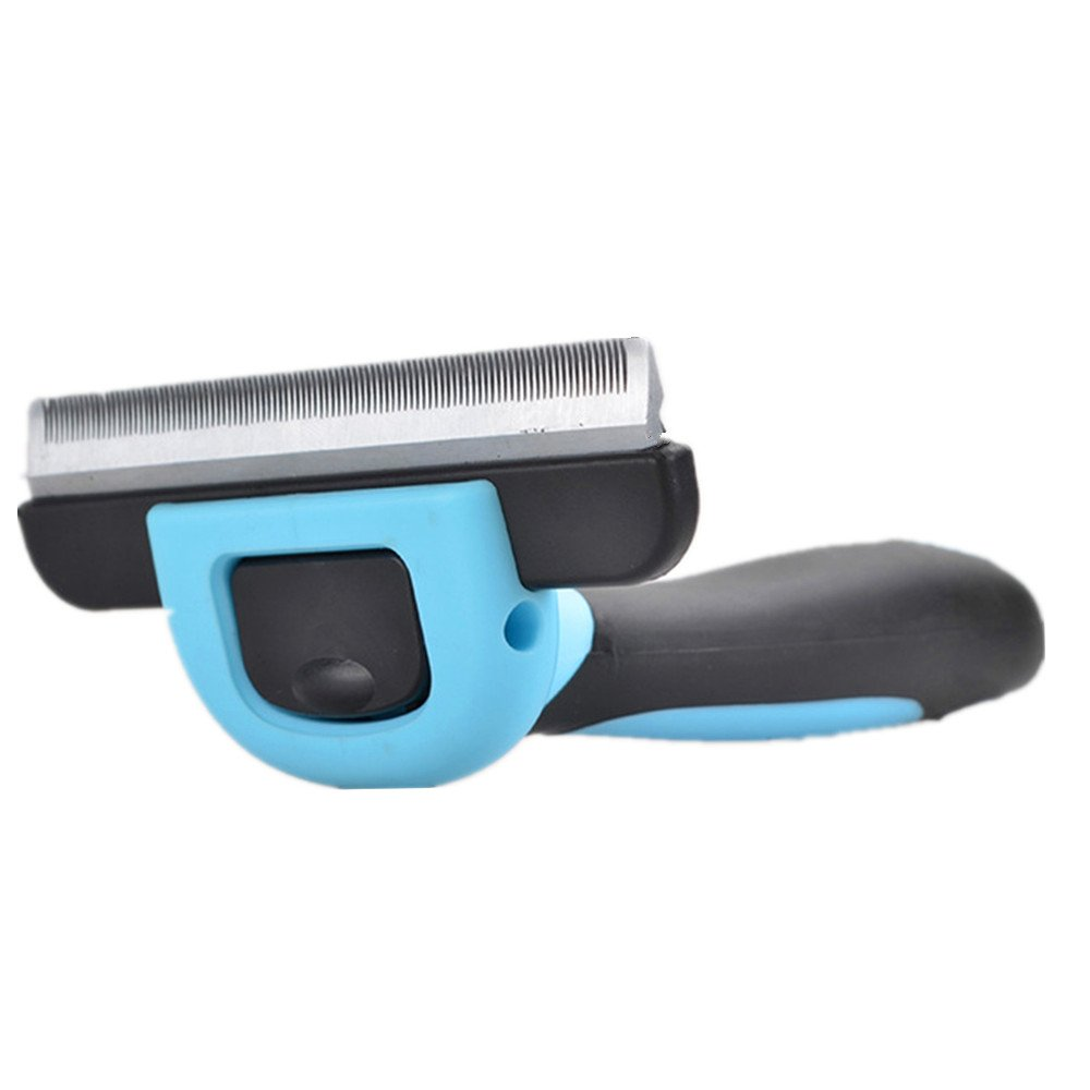 LXLP Dog Brush & Cat Brush For Small, Medium & Large Dogs and Cats, With Short to Long Hair. Dramatically Reduces Shedding In Minutes Guaranteed! (Blue)