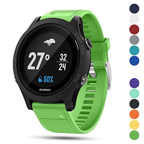 Feskio Garmin Forerunner 935 GPS Accessory Watch Band, 22mm Width Soft Silicone Quick Install Sport Watch Strap Bracelet Wristband for Garmin Forerunner 935 GPS Smart Watch