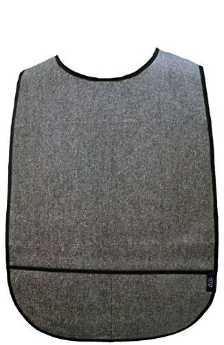 Adult Clothing Protector with Front Pockets (Black Chambray)