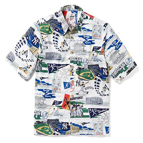 Reyn Spooner Men's New York Yankees MLB Classic Fit Hawaiian Shirt, Scenic 2019, X-Large