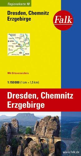 Falk Regionalkarte Dresden - Chemnitz - Erzgebirge 1:150 000