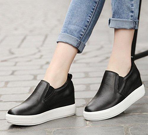corteza Spring zapatos del EU39 ocasionales los perezosos US8 CN39 elevador de la zapatos UK6 zapatos zapatos gruesa Sra Ms de los pxB4OSS