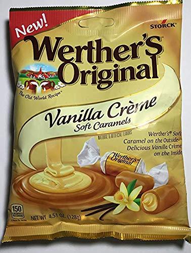 Werther's Original Vanilla Creme Soft Caramels, 4.51 oz (Pack of 2)