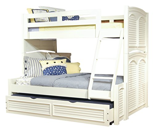 (American Woodcrafters Cottage Traditions Twin Over Full Bunk Bed with Trundle, Twin/Full)