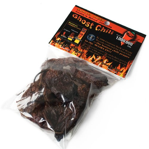 Organic Dried Smoked Ghost Chili - Whole Pods (0.5 - Ounce Blade 0.5
