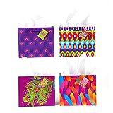 FLOMO Horizontal Medium Peacock Design Gift Bags - Assorted (12 Pack)