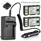 Kastar BN-VF808 Battery (2-Pack) and Charger Kit for JVC BN-VF808 BN-VF808U BN-VF815 BN-VF815U BN-VF823 BN-VF823U and JVC MiniDV, Everio specified camcorders (Detail Models in the Description)