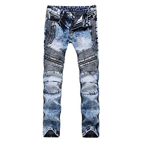 Da Dritti Hellblau Uomo Jeans Morbidi Vintage Fashion Slim Ssig Pantaloni Giovane Comodi Cotton Fit dgZxxFAwq