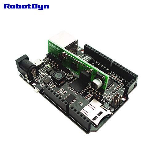 (RobotDyn - Leonardo ETH with PoE - Leonardo Ethernet W5500 + Micro SD Card Reader/Writer with PoE, Compatible for Arduino Leonardo ETH Ethernet (Active PoE))