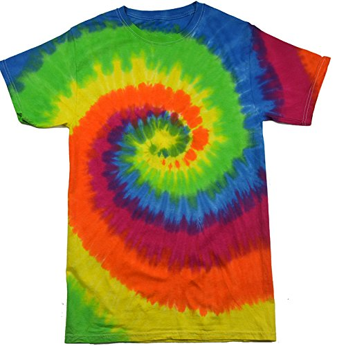 (Krazy Tees Tie Dye T-Shirt, Moondance, Youth)