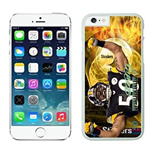 Pittsburgh Steelers Larry Foote Case Cover For Apple Iphone 6 4.7 Inch NFL Cases White NIC14122