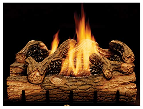 Monessen Charred Hickory Ventless Gas Logs - Manual Control - 24 inch - Natural -