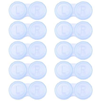 Healifty 10pcs estuches para lentes de contacto contenedor ...