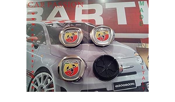 Tapacubos adhesivos ABARTH 500 50 mm de FIAT GRANDE PUNTO panda bravo escudo de aleación: Amazon.es: Coche y moto