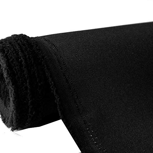 Waterproof Canvas Fabric Outdoor 600 Denier Indoor/Outdoor Fabric by The Yard PU Backing W/R, UV, 2times Good PU Color : Black (1 Yard)