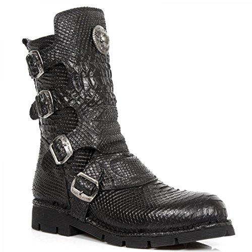 New Rock Støvler M.1471-s14 Gotisk Hardrock Punk Unisex Stiefel Sort VEFLpzk