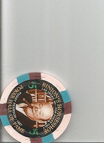 $5 binions horseshoe puggy pearson poker oversized orange las vegas casino chip rare