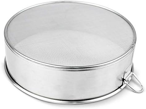 Tamis /à poudre de caf/é tamis /à poudre /à tamis uniforme /à tamis fin pour tamisage de poudre de caf/é tamis /à poudre /à caf/é /à mailles fines en acier inoxydable