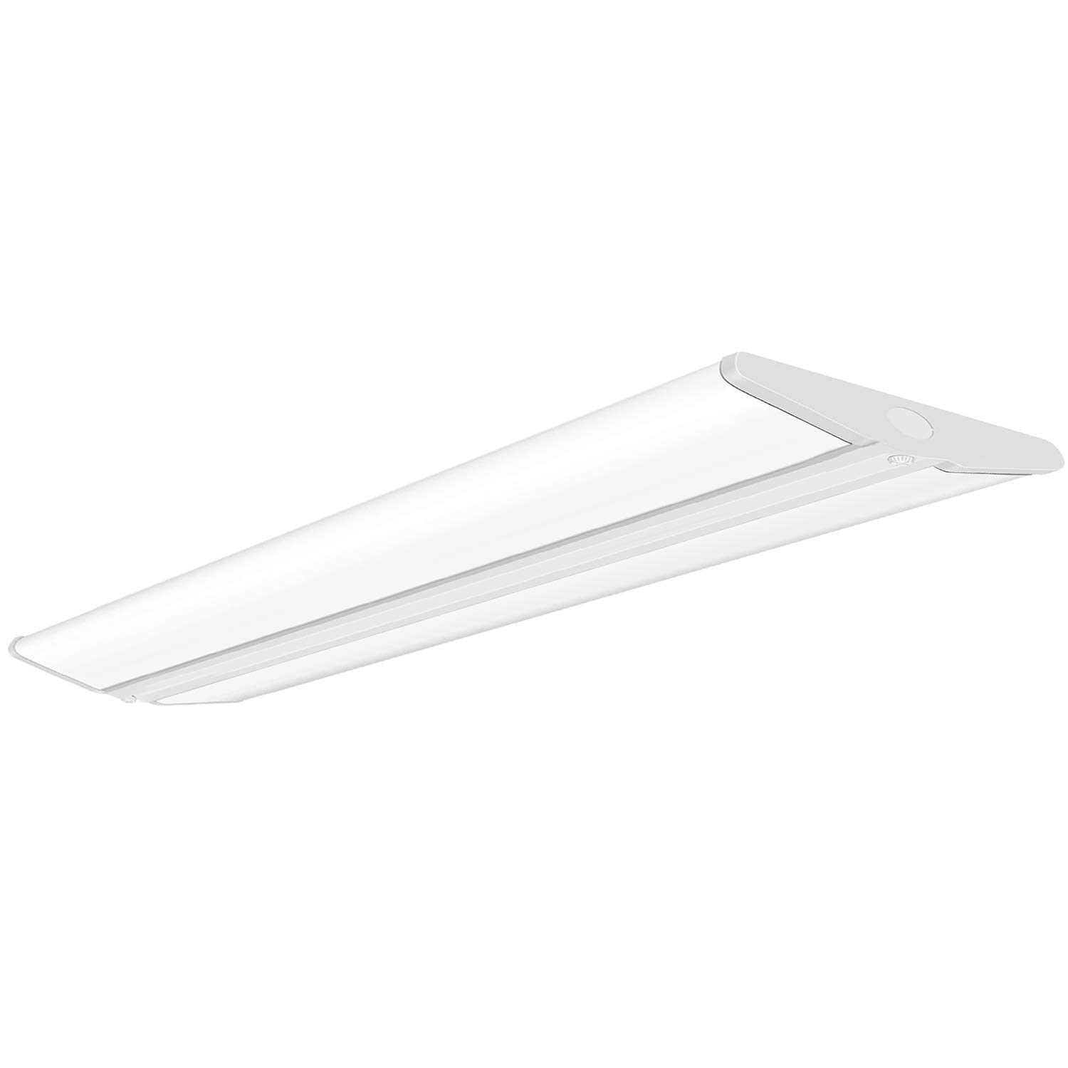 AntLux 72W 4FT LED Wraparound Office Light, Ultra Slim LED Garage Lights Flush Mount, 8000 Lumens, 4000K, No Glare, 4 Foot Wrap Shop Ceiling Lighting Fixtures, Fluorescent Tube Replacement