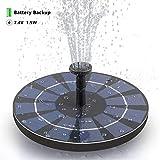 SOARAISE Solar Fountain Free-Standing Outdoor Solar Birdbath Fountain