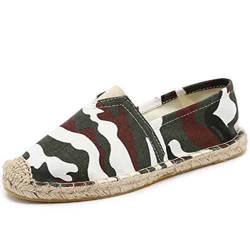 scarpe scarpe mano Deep dimensioni scarpe moda Un di a di uomini ventilazione e uomo corda cucito alla HAOYUXIANG pedale tela 35 Nuove Colore donne tessuto scarpa piede lino camouflage pigro 5nqFAxva