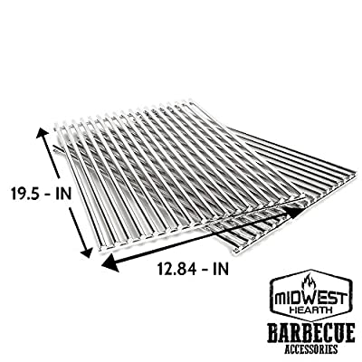 Midwest Hearth Stainless Steel Cooking Grids for Weber Genesis 300 Series Barbecue Grills 7528