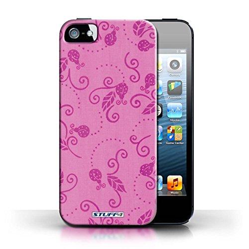 Etui / Coque pour Apple iPhone 5/5S / Rose conception / Collection de Motif Coccinelle