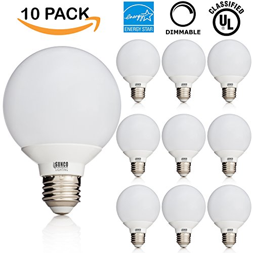 6w dimmable g25led bulb vanity light medium e26 screw omnidirectional globe bulb ebay. Black Bedroom Furniture Sets. Home Design Ideas