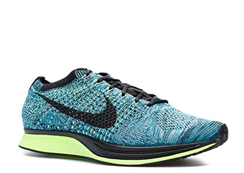 Nike Men's Flyknit Racer Running Shoes Blue Lagoon 526628-401 (10.5)