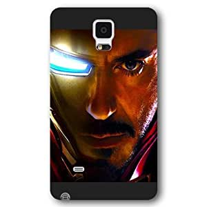 UniqueBox Customized Marvel Series Case for Samsung Galaxy Note 4, Marvel Comic Hero Ironman Samsung Galaxy Note 4 Case, Only Fit for Samsung Galaxy Note 4 (Black Frosted Case)