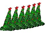 Light Up Christmas Tree Hat - Green Pkg/12