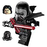 LEGO Star Wars Minifigure - Kylo Ren Complete with Helmet, Hood, Hair, Flesh/Black Face with Cross Lightsaber