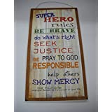 Super Hero Rules Boys Bedroom Inspirational Wooden Wall Art Sign Be Brave  Do Whats Right Seek Justice. By The Little Store Of Home Decor