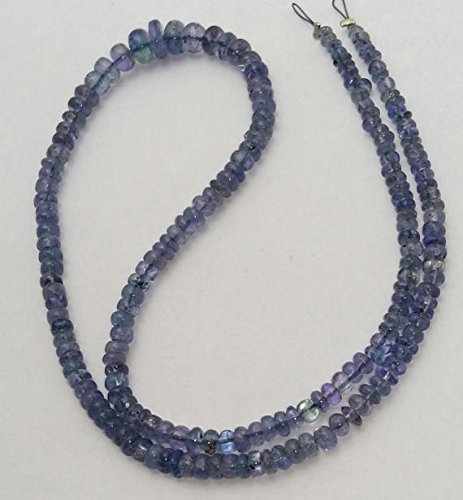 Amazing quality TANZANITE Smooth beads, rondelles beads, 2 mm -- 5 mm ,14.5 strand [E0507] Tanzanite smooth beads