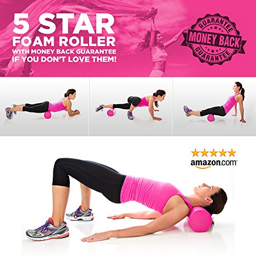 Product Stop, Inc Maintains Shape After Moderate to Heavy Use and Is Perfect for All Body Types. Pink Exercise Foam Roller with Trigger-Point Design - Massages, Soothes, Refreshes And Invigorates by Product Stop, Inc (Image #7)