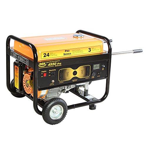 DEK Pro Series 4550-Watt Gasoline Powered Portable Generator with 170cc 100% Copper Alternator and 12 Gallon Gas Tank