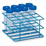 30mm Tube Rack for 50mL Test Tubes Medium Holds 16 tubes 6''L x 6''W x 3.5''H