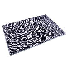 Ohuhu Super Soft Microfiber Larger Bathroom Rugs Non Slip Shug Bath Mat for Bathroom, Kitchen, Bathtub and Bedroom, Grey