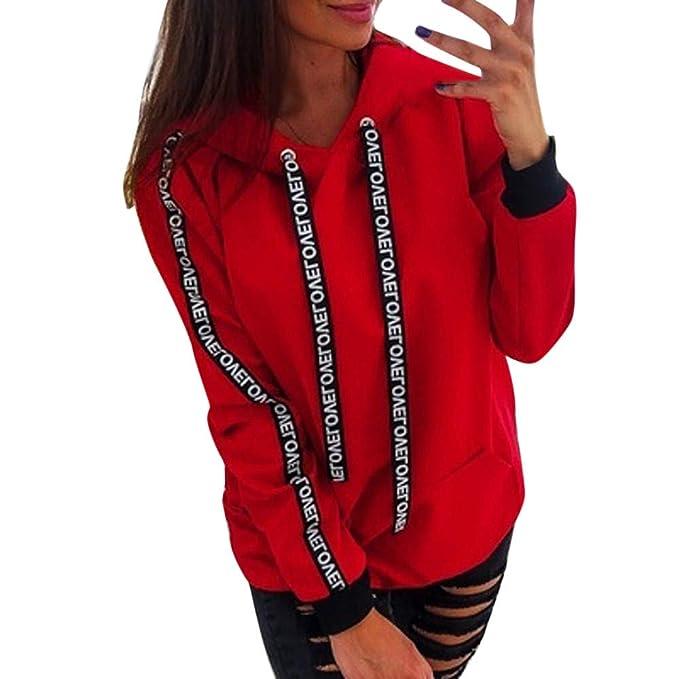 Sudadera Vestidos Mujer Fiesta Camiseta De Manga Larga con Cuello Redondo Y Tops para Mujer: Amazon.es: Ropa y accesorios