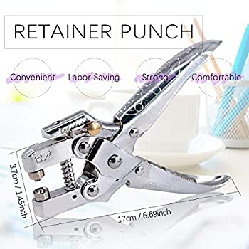 """QLOUNI 3//16/"""" Eyelet Hole Punch Pliers with 100 Eyelets Kit for Leather Fabric"""