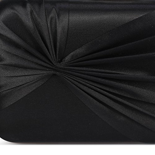 Party Elegant Pendant Women's Tassel Evening Clutch Bowknot Purse Bags Chichitop Wedding Bridal Black xTWYqH5T