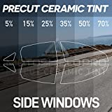 25 car tint windows - MotoShield Pro PreCut Ceramic Tint Film for All Side Windows Any Tint Shade for Sedan and Coupe